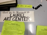 Laurel Art Center counter 4/28/12