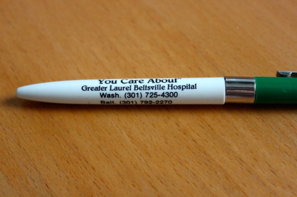 Ballpoint pen, circa 1980s.  (Lost Laurel collection)