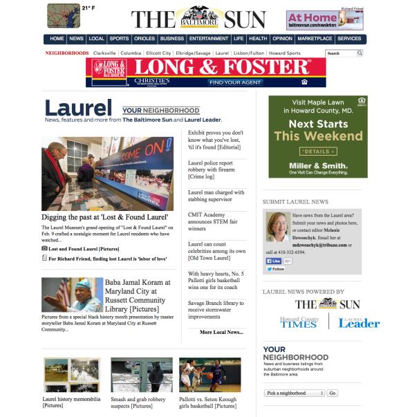 laurelleader.com front page