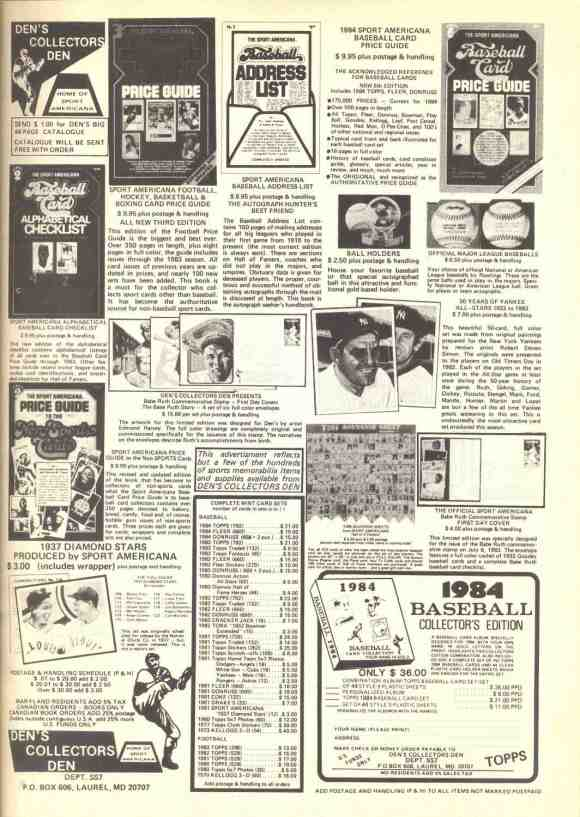 1984 Street and Smith Dens Ad