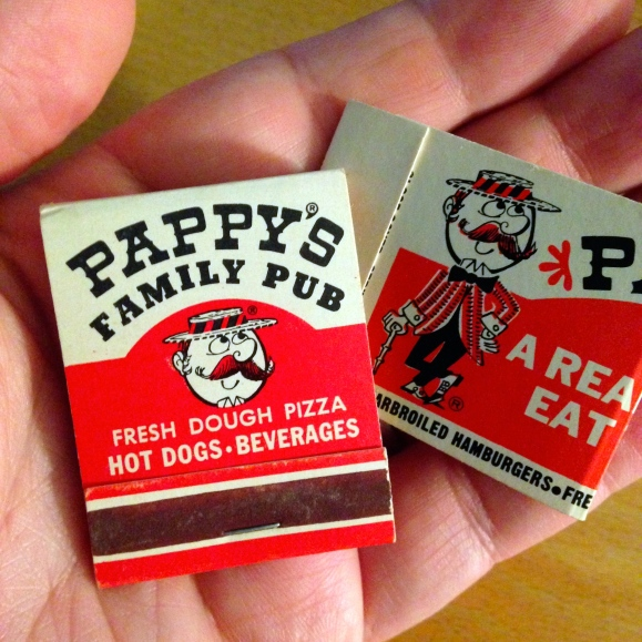Pappy's matchbooks from Kevin Leonard