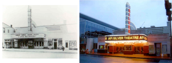 The Silver Theatre in 1938 and 2003 (http://silverspringhistory.homestead.com/theatre.html)