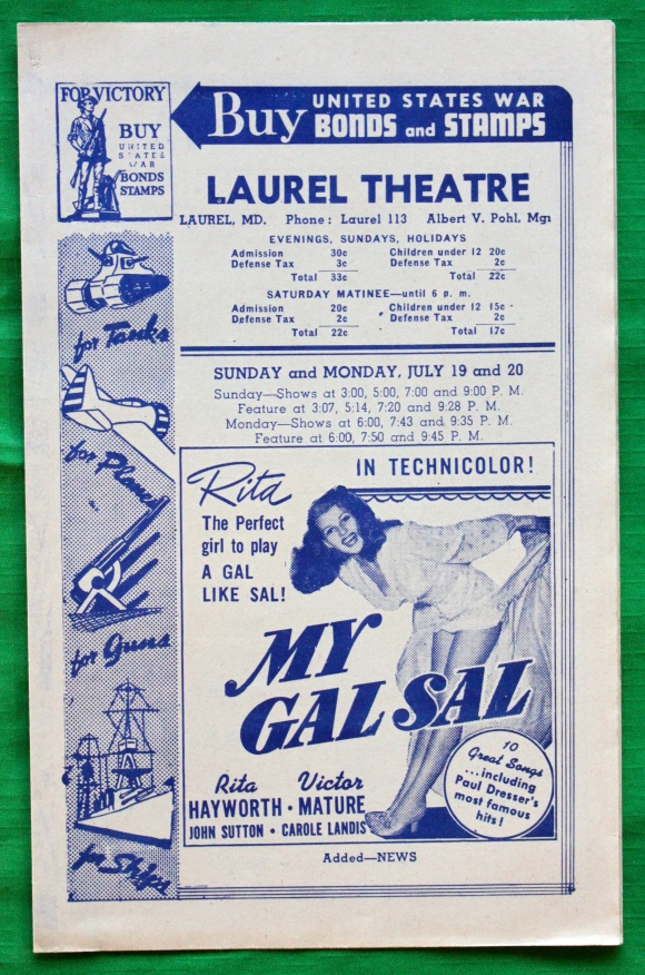 1942 program. (Peter and Martha (Kalbach) Lewnes collection)