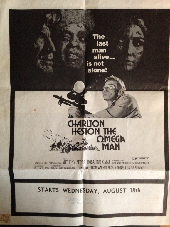 Poster for The Omega Man, 1971. (Lost Laurel collection)