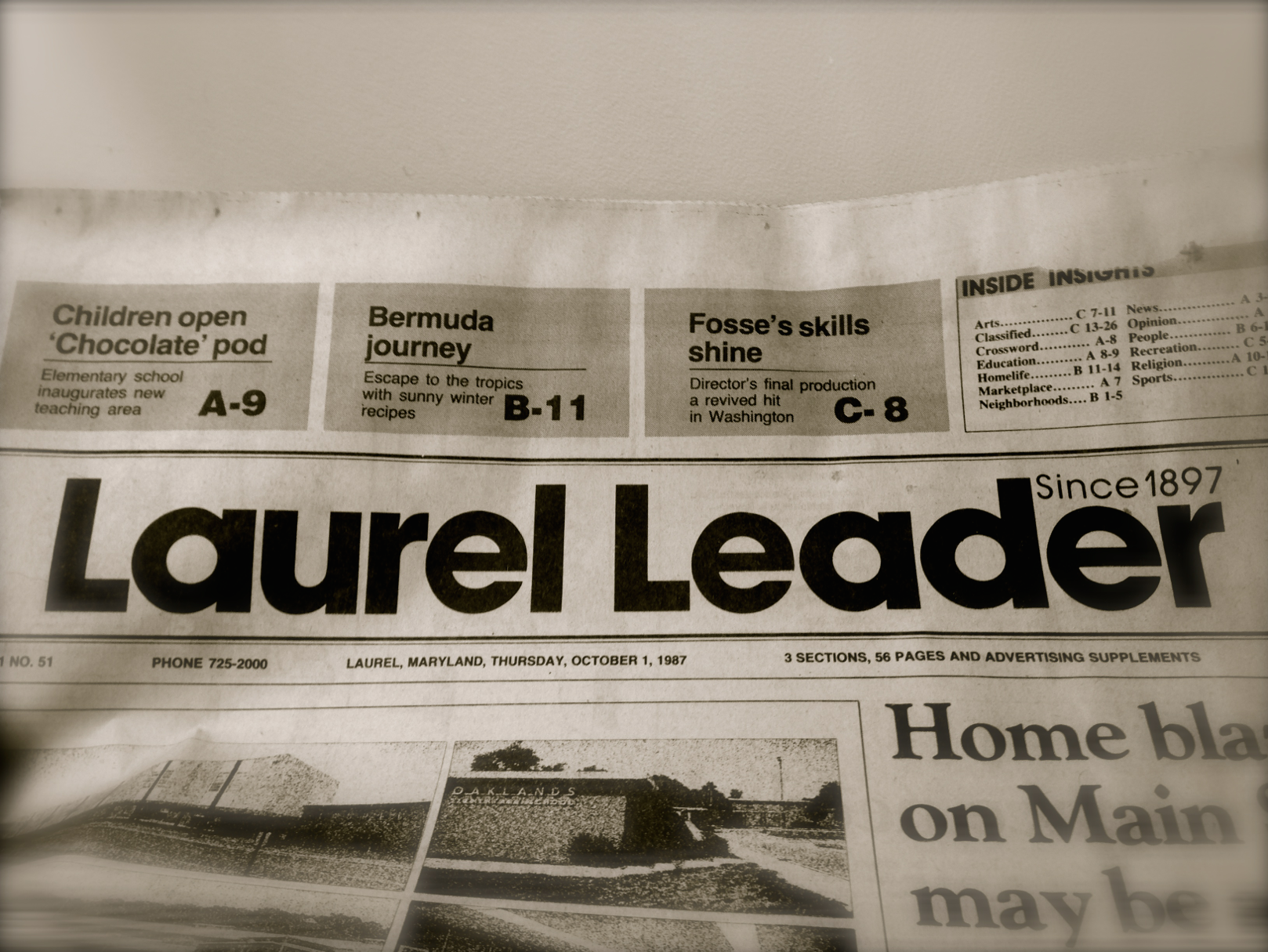 Laurel Leader sample 1987