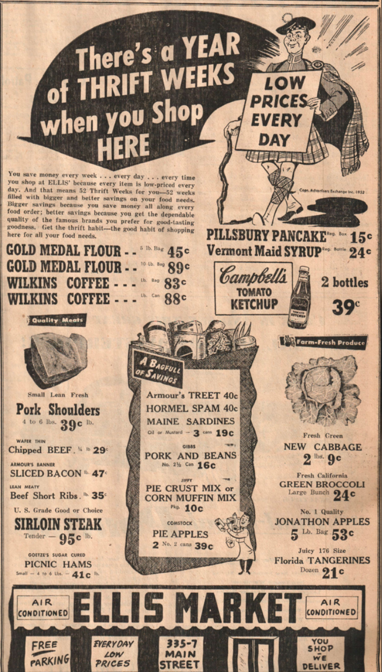 (Laurel News Leader ad, 1953)