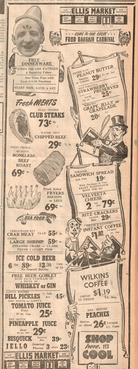 (Laurel News Leader ad, 1954)