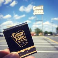 Flashback Friday: The iconic Giant Food sign at Laurel Shopping Center was grandfathered into the lease—as long as the store is here, the sign stays. Here's a matchbook cover from the era it came from, circa 1956.