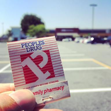 The CVS at Laurel Shopping Center has only previously been a Peoples Drug—and was there when the shopping center first opened in 1956. This was Peoples' final brand identity from the late 80s.