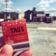 Like the Irish Pizza Pub, Tag's was another classic Laurel restaurant lost to fire—making a matchbook memento sadly ironic.
